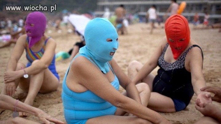 Poliestrowa maska na twarz na plażę