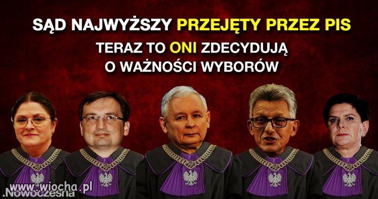 Skład sądu najwyższego po reformie PiS