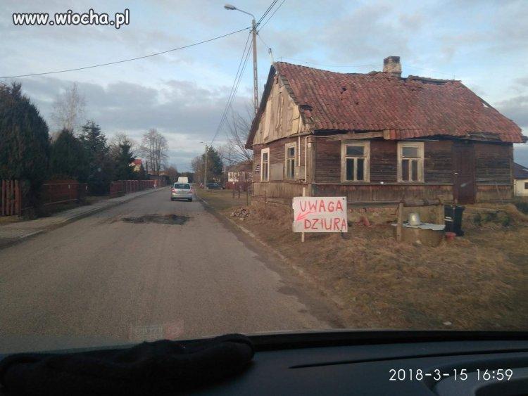 Podlasie miejscowość Zaczerlany zabezpieczona drogi