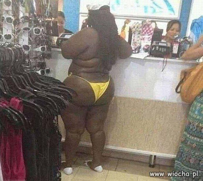Gorylica w sklepie