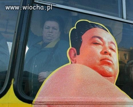 A Ty masz swoj� podobizn� na autobusie?
