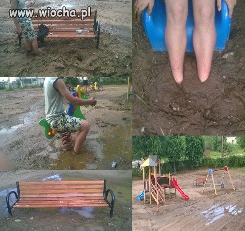 Takie place zabaw w Polsce.