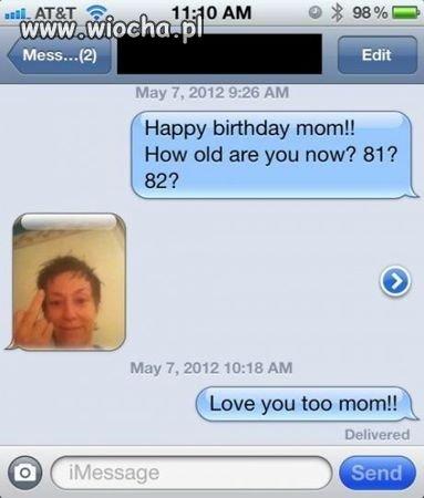 Wszystkiego najlepszego mamo!!!