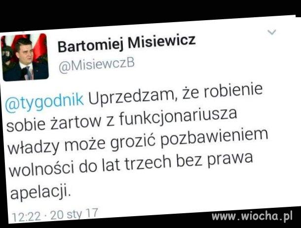 Misiewicz uprzedza, że