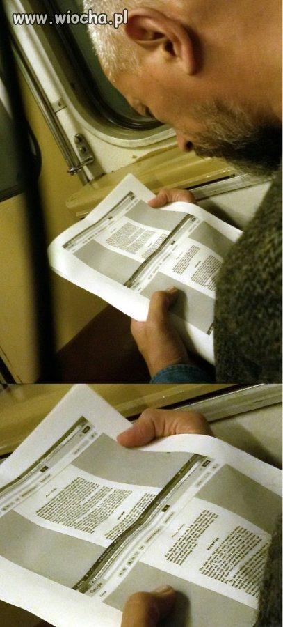 No i wydrukował sobie książkę