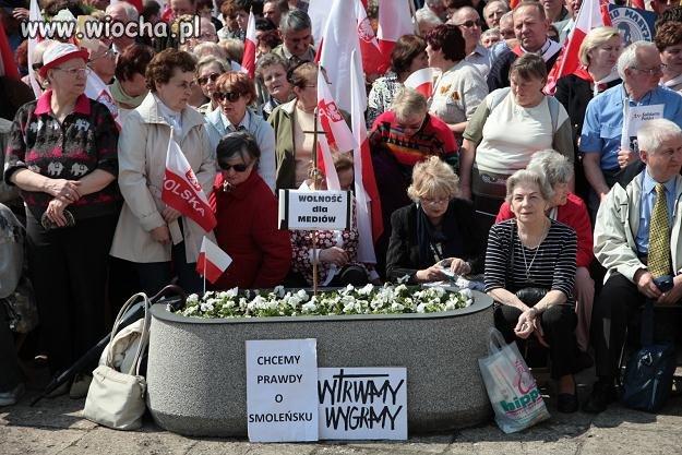Dzisiejsza demonstracja w obronie TV TRWAM.