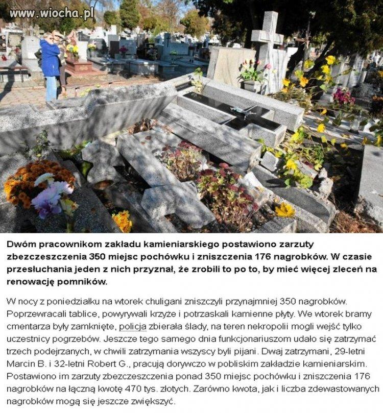 Kamieniarze zniszczyli 350 nagrobków