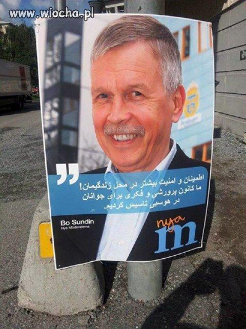 Tymczasem w Szwecji trwa kampania wyborcza