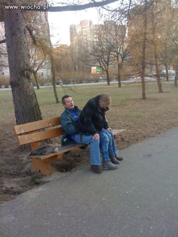 Takie tam w parku na Warszawskim bródnie