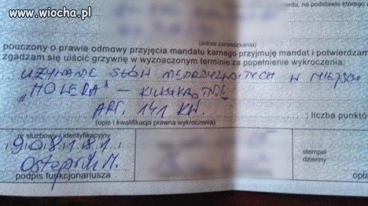 "100zł za słowo ""cholera&quot"