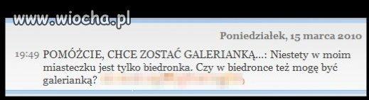 Galerianka w Biedronce ...