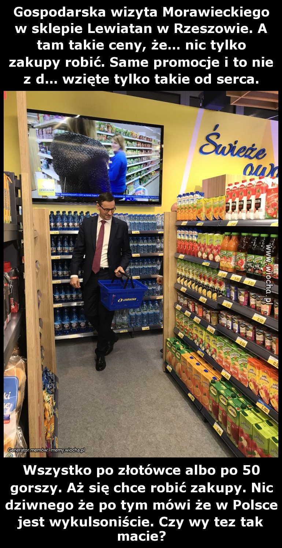 O tym jak premier Morawiecki doświadcza owoców sukcesu