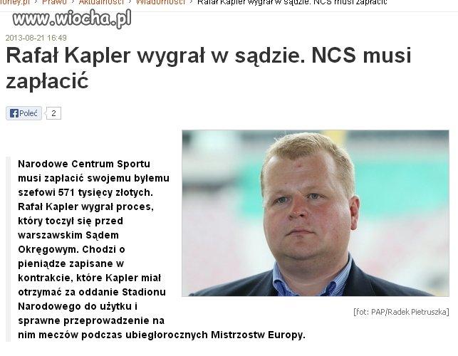 """Kolejna """"wtopa""""Ministerstwa sportu ..."""