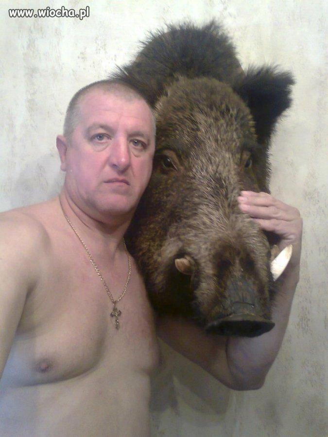 Dzikie selfie.