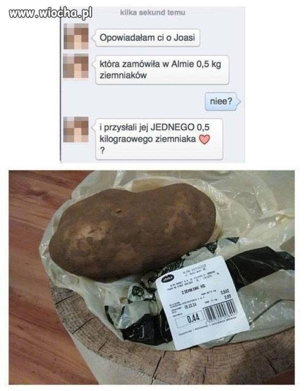 Poproszę pół kilograma ziemniaków