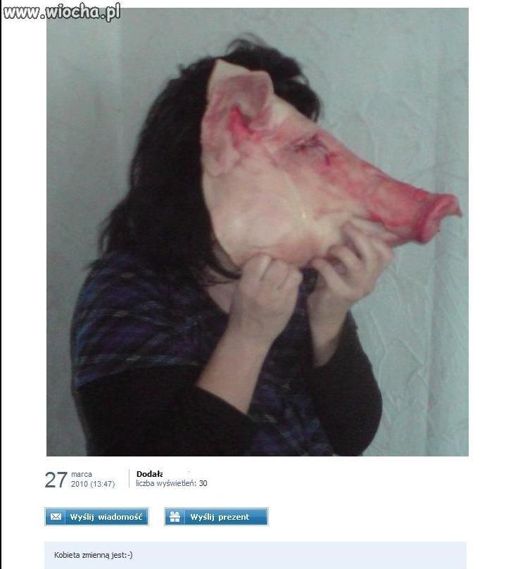 Z kobiety w świnie...