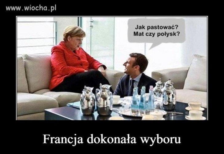 Angela zadowolona z wyborów we Francji