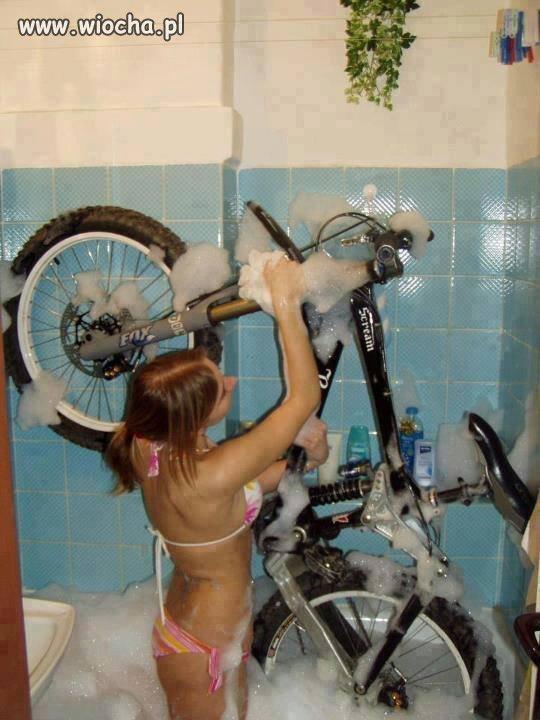 A wy jak czy�cicie rower?