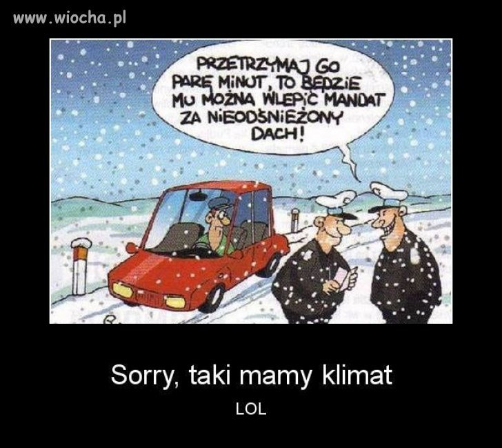Taki mamy klimat...