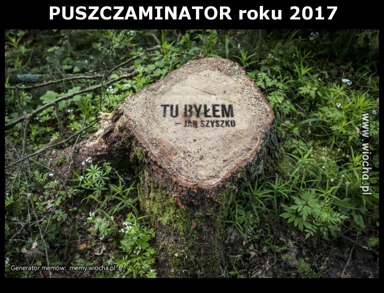 PUSZCZAMINATOR roku 2017