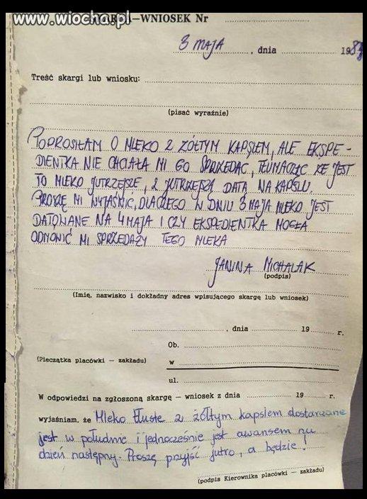 Skarga na sklep z 1983 roku