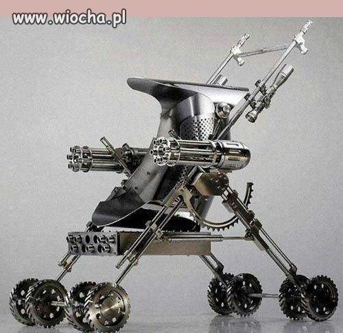 Nowy projekt wózka dziecięcego zaczepno-obronnego