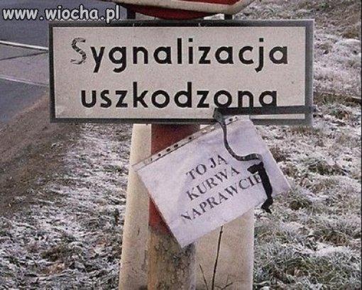 Polskie sygnalizacje...