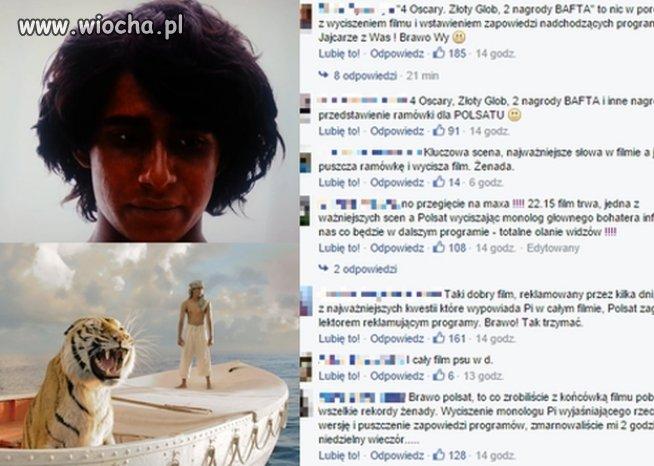 Polsat wyciszył końcówkę filmu, żeby puścić reklamy