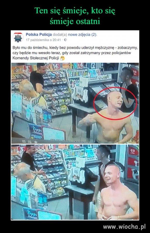 Szkoda, że dzielni policjanci zatrzymali jegomościa