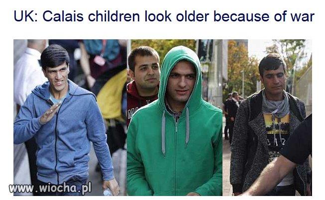 """""""Dzieci"""" z Calais wyglądają starzej z powodu wojny"""