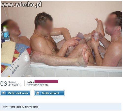 Wspólna kąpiel noworoczna