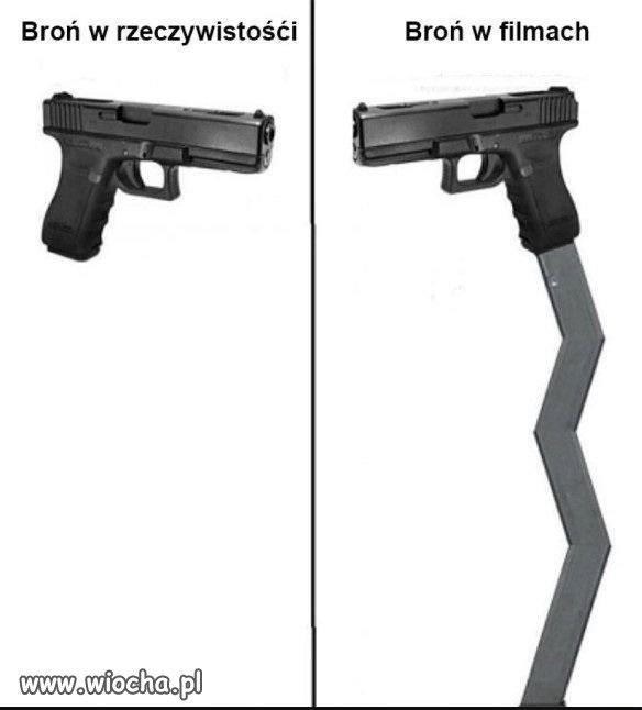 Broń ma zawsze więcej w filmach