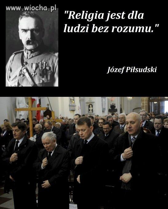 Marsz PISowc�w pod pomnik J�zefa Pi�sudskiego