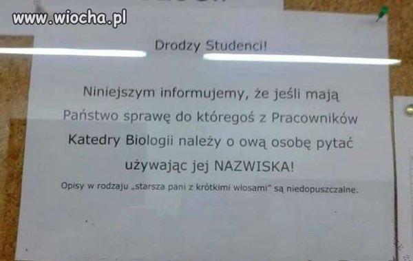 Informacja na wy�szej uczelni. Nied�ugo trzeba b�dzie