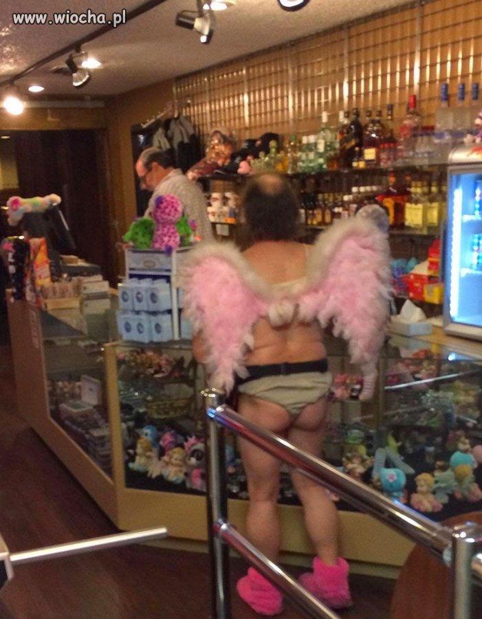 Aniołek w sklepie...