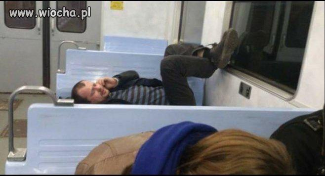 Kultura w pociągu.