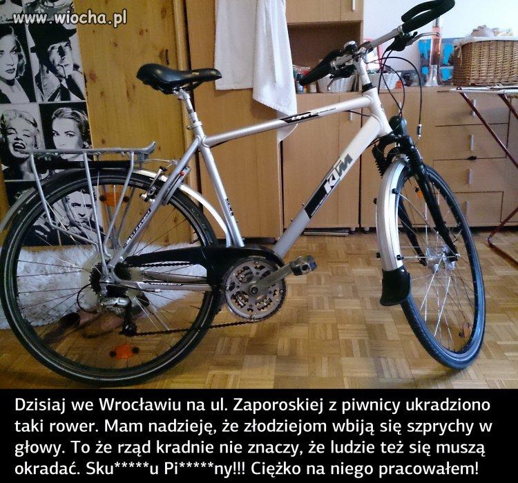 Nie kupujcie kradzionych rowerów! Wspieracie ch***