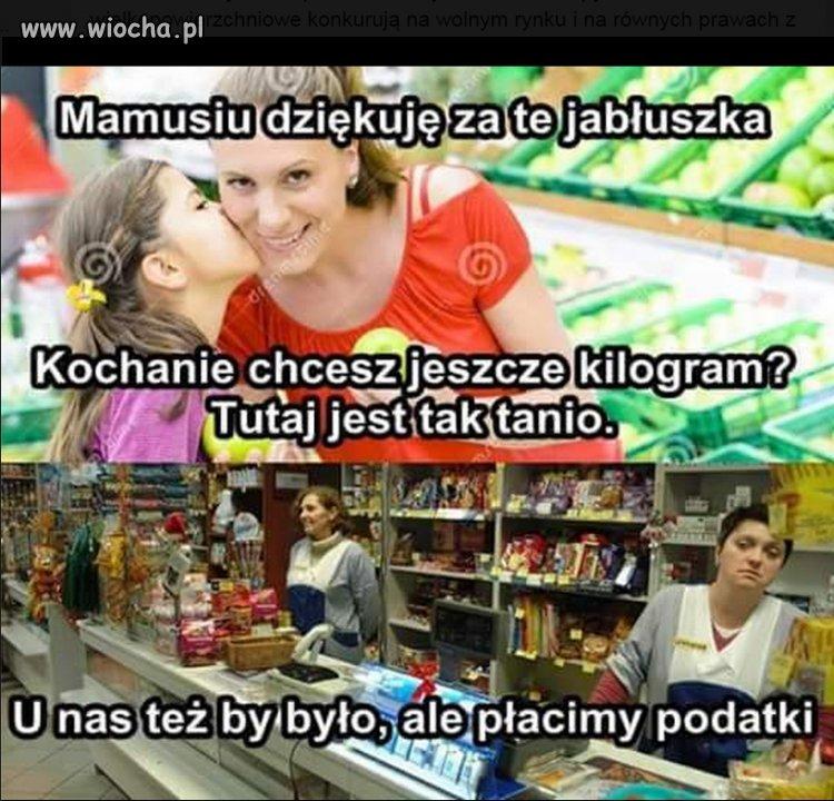 Zagraniczne markety vs Polskie sklepy