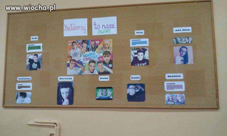Gazetka szkolna w gimnazjum