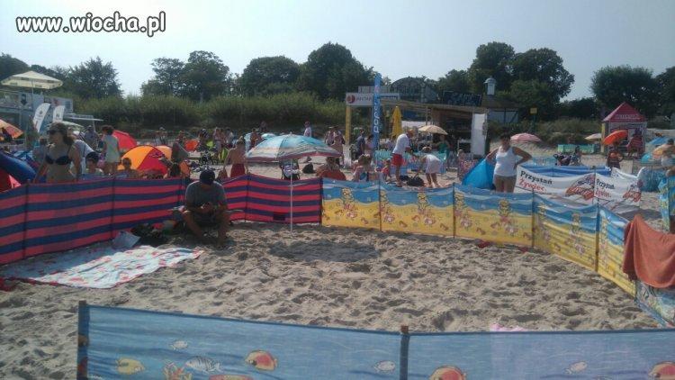Wiochmen na plaży w Ustce Parawaning 2016