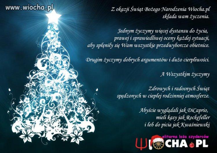 Zdrowych i wesołych Świąt Bożego Narodzenia