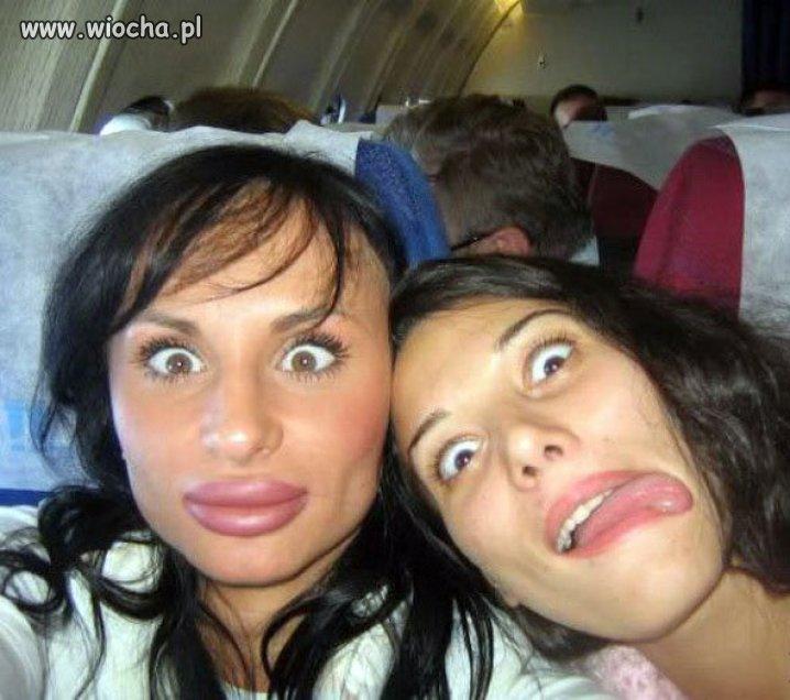 Ponton w samolocie.