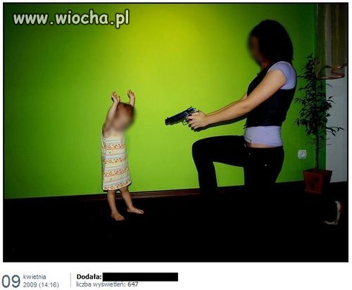 Mamusia uczy.