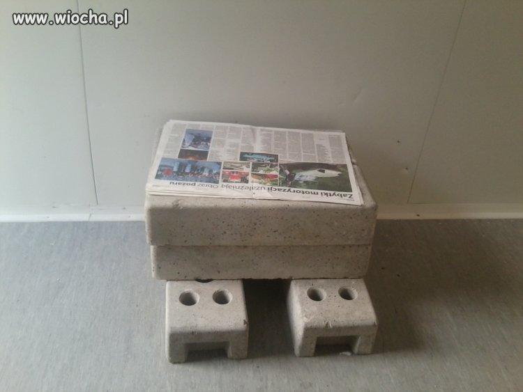 Krzesło dla ochroniarza na budowie!!!