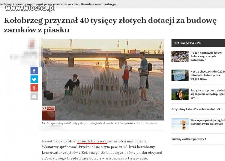 40 tysięcy dotacji na budowę zamków z piasku...