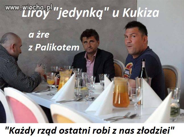 """Liroy, """"jedynka"""" na liście Kukiza w Kielcach,"""