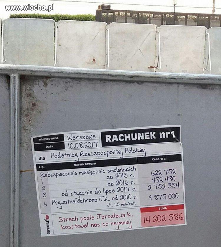 Rachunek dla naczelnika Jarosława