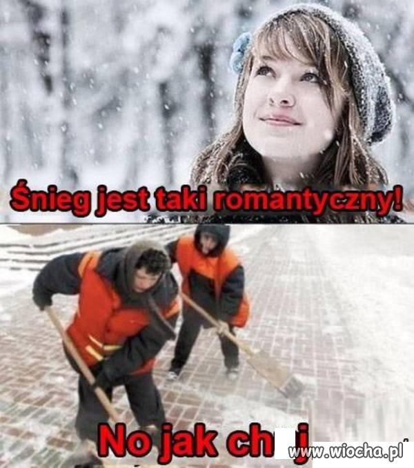 Romantyczny śnieg