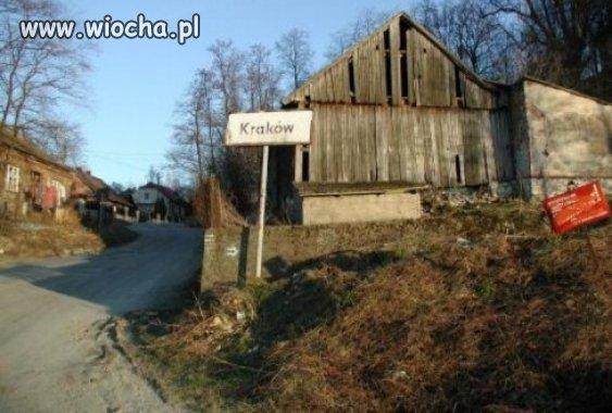 Wjazd do Krakowa...