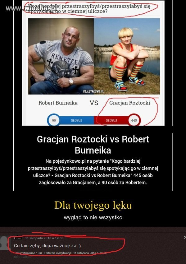 Gracjan vs Robert